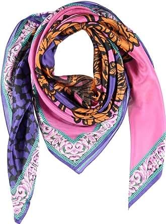 PASSIGATTI Damen Schal 28049, Gr. one size, Orange (3-orange-pink)