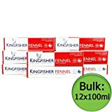 Kingfisher Toothpaste - Fennel (With Fluoride) 12x100ml