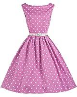 Lindy Bop 'Sandy' Rose Polka Point Millésime 1950's Balançoire Robe