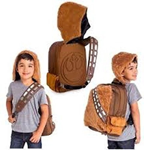 Disney Chewbacca Star Wars Wookie Plush Backpack with Removable Hood