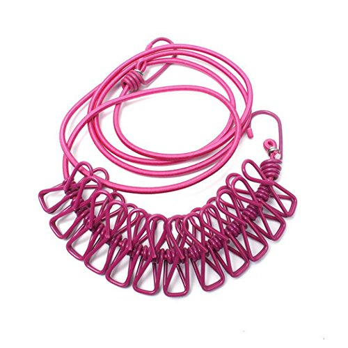 i-bosom-outdoor-viaggio-portatile-antiscivolo-clothesline-vestiti-corda-con-picchetti-rosa