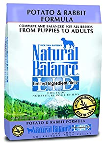 Dick Van Patten's Natural Balance Limited Ingredient Diets Potato and Rabbit Formula Dry Dog Food, 24-Pound Bag