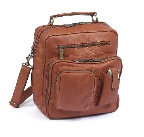 Claire Chase Jumbo Man Bag, Saddle, One Size