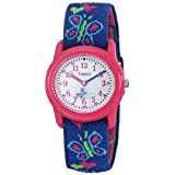 Timex Kids' T89001 Hearts and Butterflies Watch with Elastic Fabric Strap