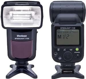P-Franken Speedlite V190 Flash (Valeur indicative 55) pour Canon EOS 1100D 1000D 700D 650D 600D 550D 500D 450D 400D 350D 300D 100D 70D 60D 50D 40D 30D 20D 10D 7D 6D 5D 5D Mark II 1D 1Ds 1D Mark II 1Ds Mark II 1D Mark II N 1D Mark III 1Ds Mark III - Nikon D1 D2 D3 D3s D3x D4 D800 D800E D600 D300 D300s D200 D90 D3000 D3100 D3200 D5000 D5100 D5200 D7000 D7100 D80 D70 D70s D60 D50 D40 D40x - Olympus E620 E520 E510 E500 E420 E3 - Pentax K20D K200D - Fuji S5 Pro DSLR