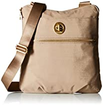 Baggallini Hanover Crossbody Bag Gold Hardware, Beach, One Size