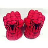 2014 Newest Spider Man Smash Hands Boxing Gloves Big Soft Plush Toy Red Cool Special Novel Unique Gift- One Pair for fun Sports Cool Special Novel Unique Gift Simulation Gloves