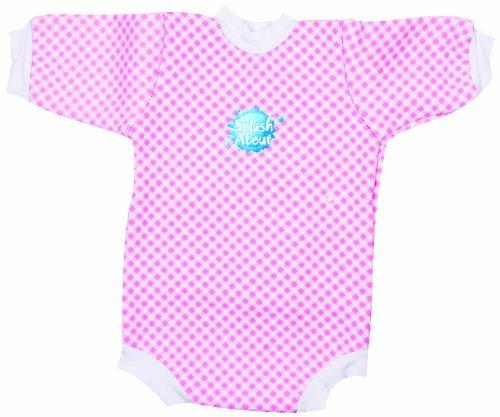 Splash About Baby Snug - Mini Neoprene Wetsuit - Pink Gingham, XL, 6-12 Months