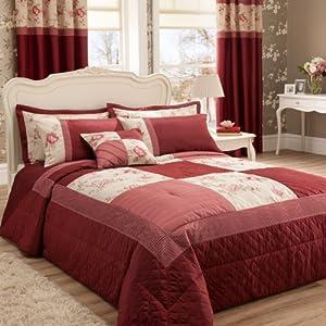 Catherine Lansfield Gardenia 240 x 260 cm Bedspread, Red