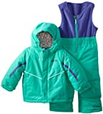 Columbia Kids Buga Bib and Jacket Set, Atlantis, 2T