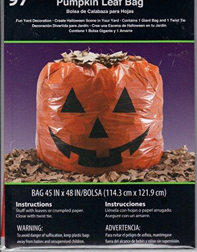 Pumpkin Leaf Bag Halloween Decoration