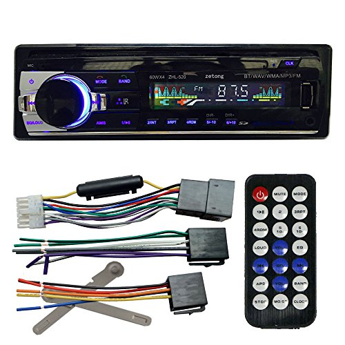 zetong autoradio bluetooth voiture bluetooth st r o de radio lecteur autoradio de bord fm entr e. Black Bedroom Furniture Sets. Home Design Ideas