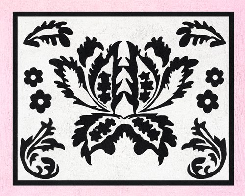 Pink And Black Sophia Accent Floor Rug By Sweet Jojo Designs front-233628