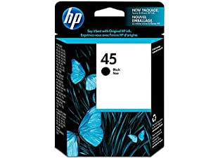 HP 45 Ink Cartridge in Retail Packaging- Black