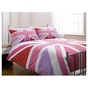 housse de couette double pour lit de 2 places union jack. Black Bedroom Furniture Sets. Home Design Ideas