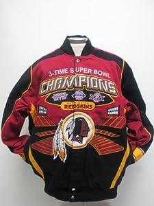Washington Redskins 3x Champions Commemorative Twill Jacket by MTC