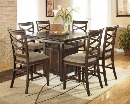 Buy Low Price Signature Design by Ashley Hayley Counter Height Dinette Set (D480)