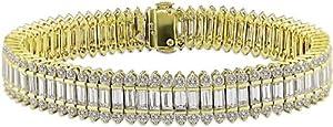 18k Yellow Gold 16 4/5ct TDW Diamond Bracelet (GHI, SI3-I1)