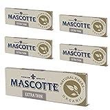 MASCOTTE(マスコット) ピュアオーガニックヘンプ 無漂白 スローバーニング 手巻きタバコ用ペーパー 50枚入×5冊パック 7-65001-27