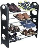 #8: Ebee Store 4 Layer 12 Pairs Shoe Rack