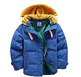 バイシン(BAISHUN)子ども ダウンコート 男女兼用 ダウンジャケット カジュアル 保温 防寒 ダウンジャケット 冬(ブル―120)