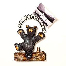 Bearfoots Bear Hap, Wall Photo Holder by Big Sky Carvers - Demdaco