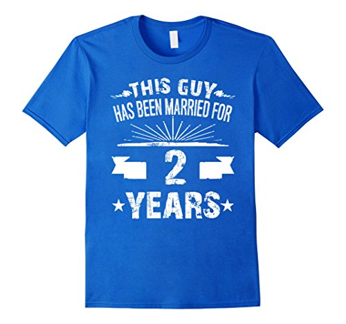 Men's 2nd Wedding Anniversary Gifts 2 Year Shirt For Him Large Royal Blue