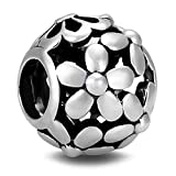 BEAUTY CHARM 925 Sterling Silver Beads Love of Flowers DIY Charm Bead Fit Pandora Chain or Bracelet