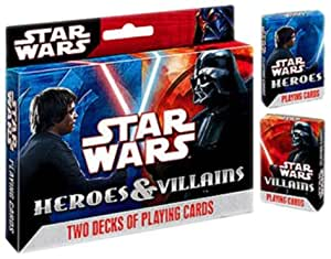 Star Wars Heroes and Villians Poker Size Playing Cards, 2-Decks