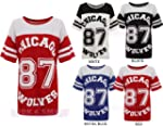 NEW WOMENS AMERICAN JERSEY FOOTBALL T...
