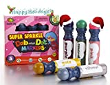Dab and Dot Set of 5 Super Girl Shimmer Dot Washable Paint Dauber / Markers / Dabbers for preschooler