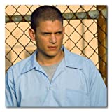 Wentworth Miller Color Matte Photograph (12x12 Inches - Prison Break - In The Yard)