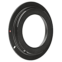 eForCity M42 Lens to Canon EOS EF Camera Adapter Ring, Black