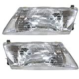 95 96 97 98 Nissan Sentra 200SX Headlight Headlamp Composite Halogen Front Head Light Lamp Set Pair Left Driver And Right Passenger Side