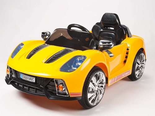 Porsche Style Kids 12V Battery Powered Wheels Ride On Car Rc Remote Yellow