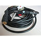 16Ft MIG Welder Spool Gun Wire Feed Aluminum Steel with Euro Adpator