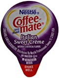 Coffee-mate Coffee Creamer, Italian Sweet Creme Liquid Singles (Pack of 180)