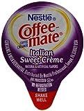 Coffee-mate Coffee Creamer, Italian Sweet Creme Liquid Singles (Pack of 180)