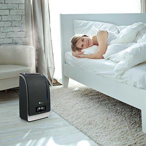 Warm Cool Mist Humidifier With Led Display Taotronics Ultrasonic Air Humidifiers For Bedroom