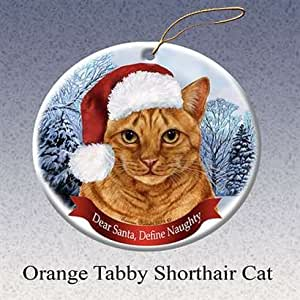 Amazon.com: Holiday Pet Gifts Orange Tabby Shorthair Cat ...
