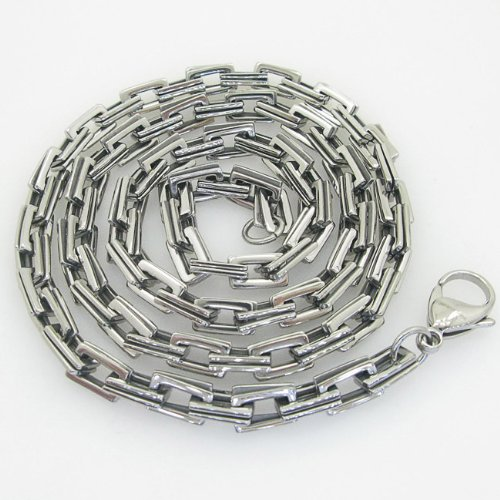 Mens 316L Stainless steel franco box ball wheat curb popcorn rope fancy chain hand made link chain hand made link chain