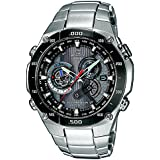 Casio - EQW-M1100DB-1AER - Gents Watch - Quartz - Analogue - Stainless Steel Silver Strap