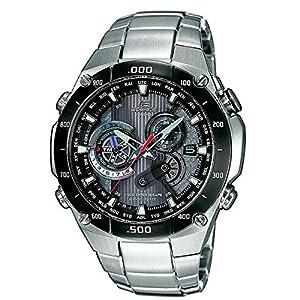 CASIO Edifice EQW-M1100DB-1AER - Reloj de caballero de cuarzo, correa de acero inoxidable, color plata