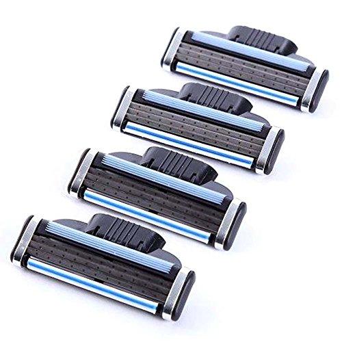 4 Blades For Gillette MACH 3 Razor Shaving Shaver Trimmer Refills Cartridges BO