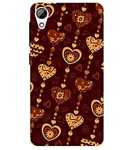 Chiraiyaa Designer Printed Premium Back Cover Case for HTC Desire 628 (pattern heart boy girl friend valentine miss kiss stripe) (Multicolor)