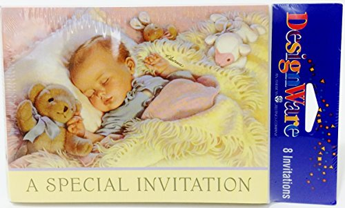 Lullabye & Goodnight Baby Shower Invitations w/ Envelopes (8ct)