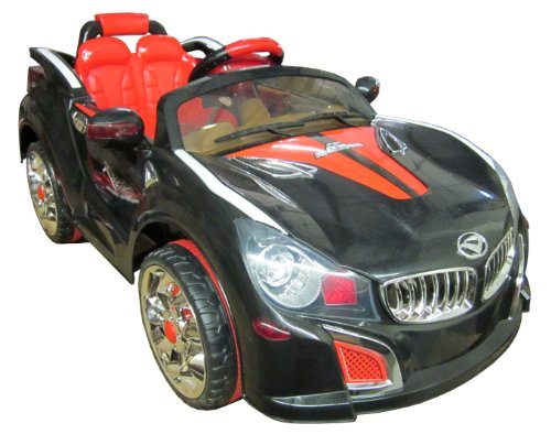 SPORTrax BMW Style Kid's Ride On Car, Battery Powered, Remote Control, w/FREE MP3 Player - Black