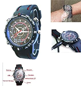 Sportsmans Waterproof Wrist Watch with built in Video and Camera for recording. (949) Ideal gift.