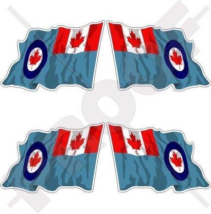 canada-canadese-airforce-aircom-waving-flag-2-50-mm-bumper-helmet-adesivi-in-vinile-decals-x4