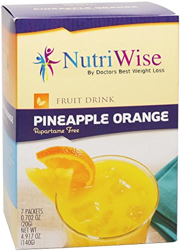NutriWise - Protein Diet Fruit Drinks - Pineapple Orange (7 packets/box) (Protein Water Drinks compare prices)